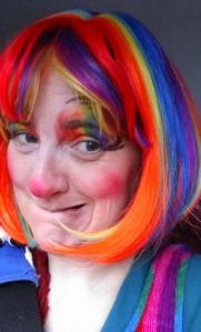 Rainbow clown me selfies car.37