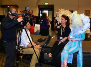 Cat Steph interviewed mustard tv paintopia