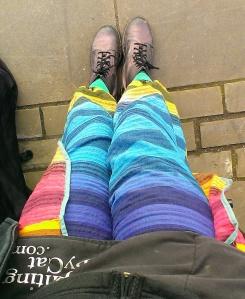 my rainbow trousers.17