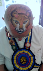 Nancy Oldfield open day lion head morris dancer.09