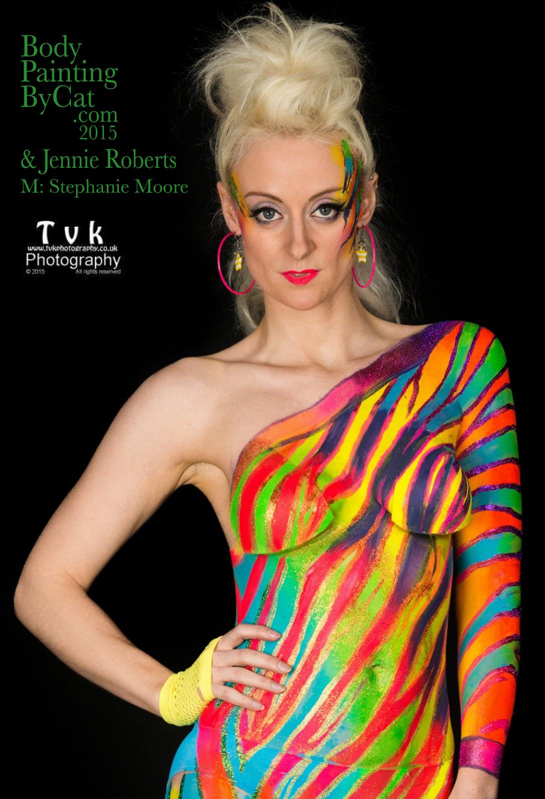urban jungle neon zebra paintopia 2016 bodypaint body painting by cat. Black Bedroom Furniture Sets. Home Design Ideas