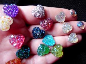 Face paint gems mixed hearts hand no logo clse