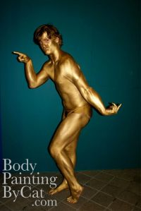 Gold rugby bodypaint posed bpc