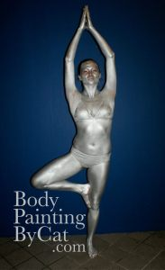 Silver yoga pat bodypaint rugby bpc