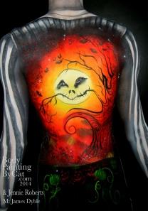 Oct Pro Beauty James Pumpkin Jack Tim B back bpc