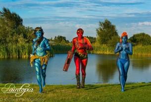 Paintopia documentary launch avatar hell girl mystique run logo
