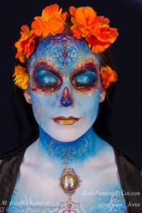 Sugar Skull dotd emily glitter bodypaint cloaked crop logo