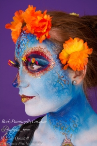 Sugar Skull dotd emily glitter bodypaint side all logo