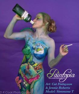 Drinkerbelle Tink Twisted fairytale bodypaint bottle n fag logo
