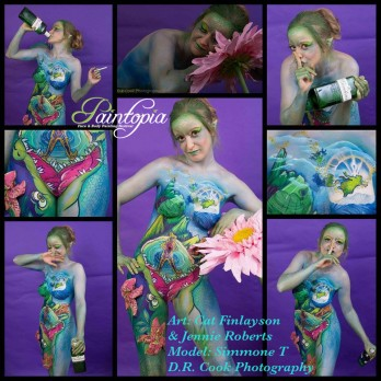 Drinkerbelle Tink Twisted fairytale bodypaint collage logo