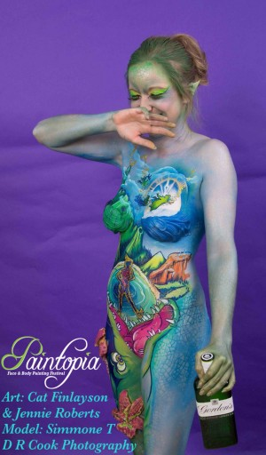 Drinkerbelle Tink Twisted fairytale bodypaint snigger logo