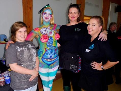 Malice in Wonderland bodypaint Essex jam crew