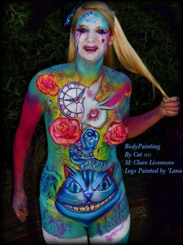 Malice in Wonderland bodypaint Essex jam hair vig bpc