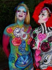 Malice in Wonderland bodypaint Essex jam queen smile