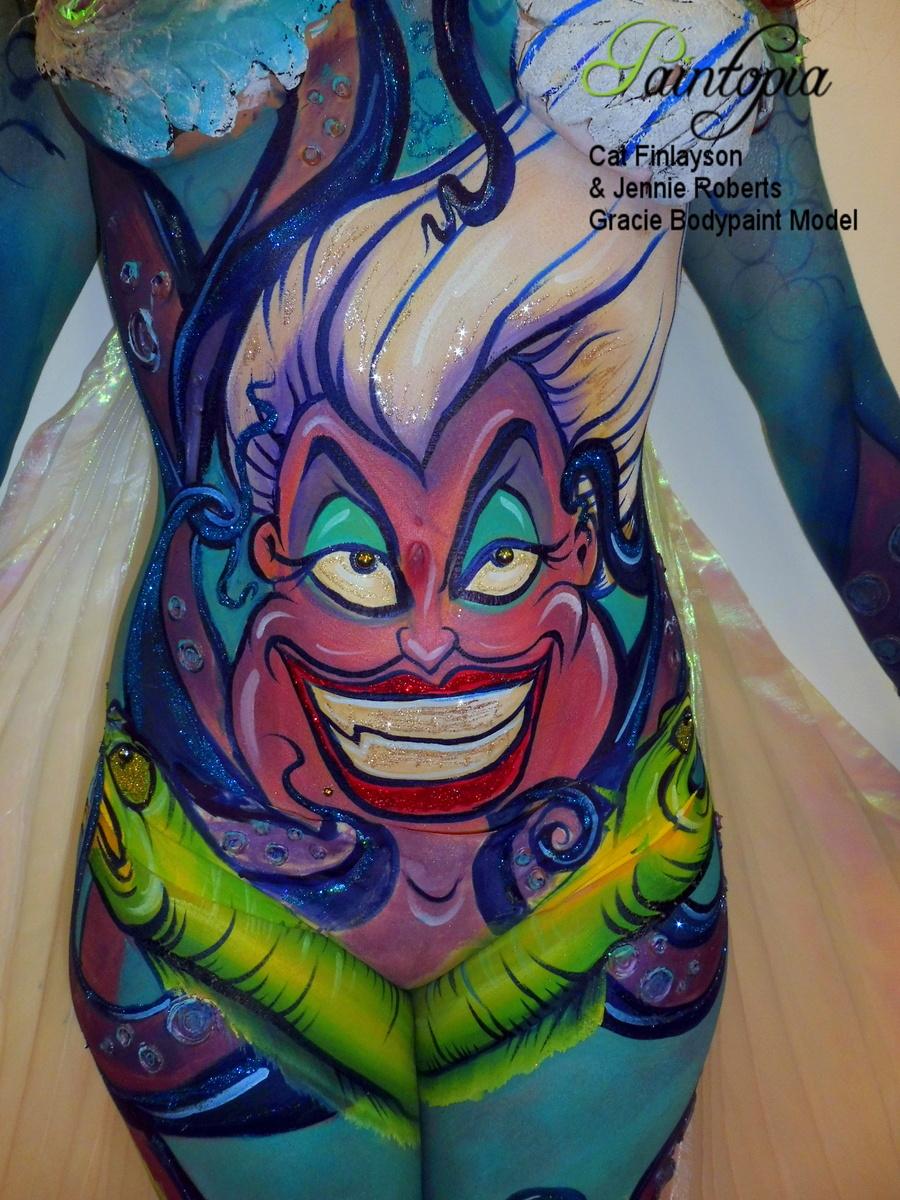 Scariel Little Merm Prosthetics demo bodypaint torso logo