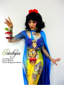 Snow Fright bodypaint Paintopia Pro Beauty fingers logo
