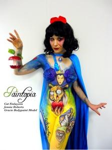Snow Fright bodypaint Paintopia Pro Beauty fingers logo