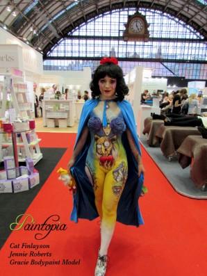 Snow Fright bodypaint Paintopia Pro Beauty hall logo