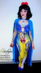 Snow Fright bodypaint Paintopia Pro Beauty logo