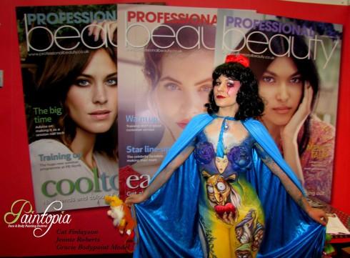 Snow Fright bodypaint Paintopia Pro Beauty magazines logo