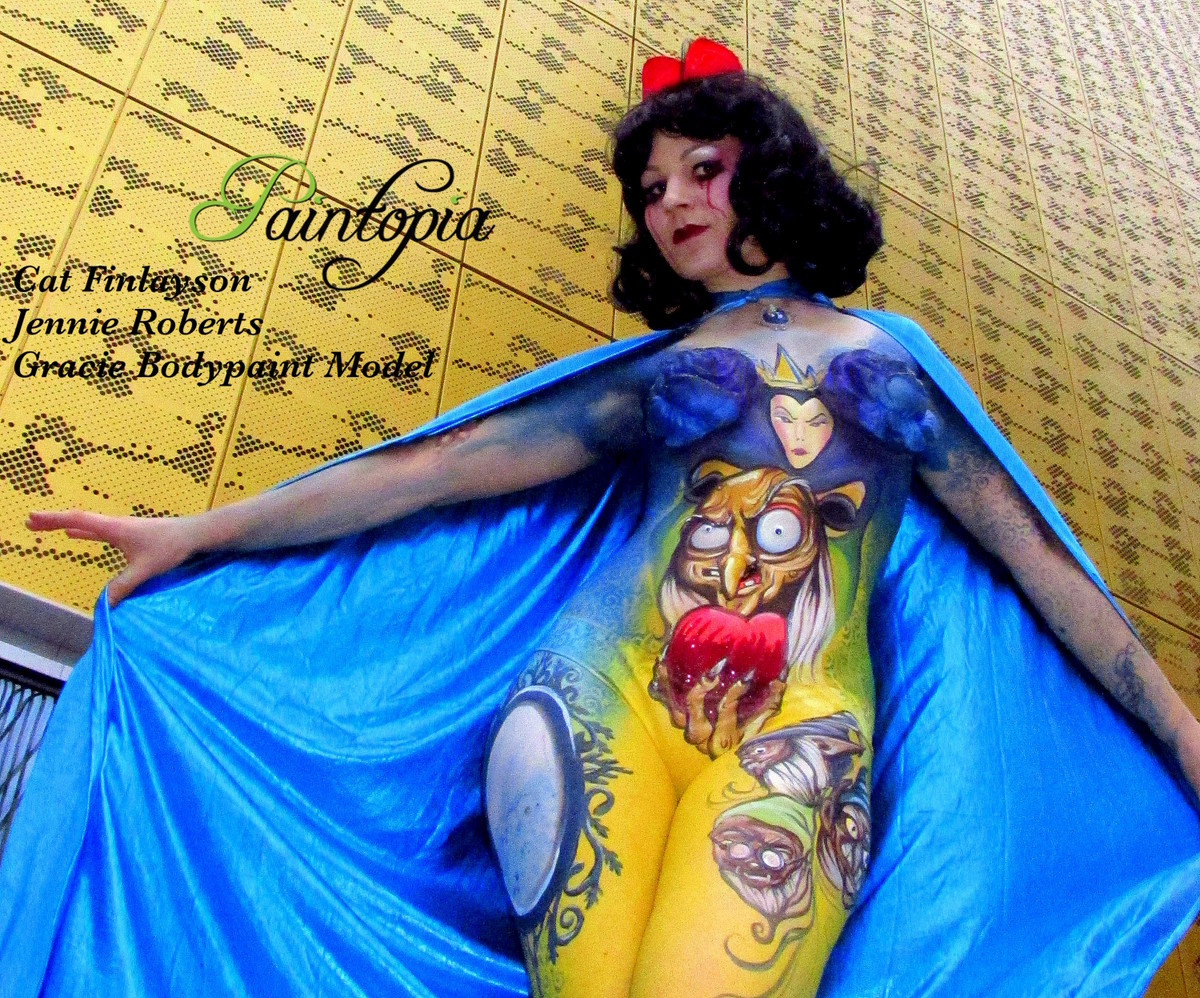 Death Of Disney Twisted Tales Body Painting By Cat