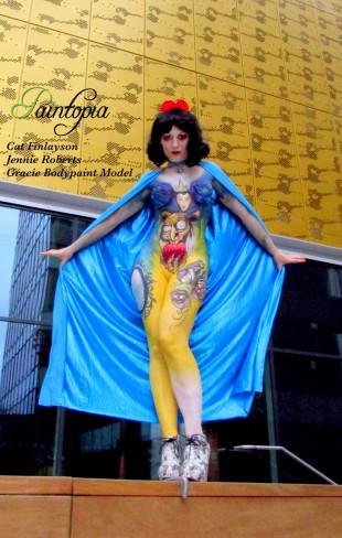 Snow Fright bodypaint Paintopia Pro Beauty metal wall logo