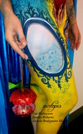 Snow Fright bodypaint Paintopia Pro Beauty mirror apple. logo