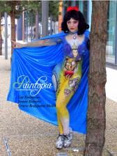 Snow Fright bodypaint Paintopia Pro Beauty tree logo