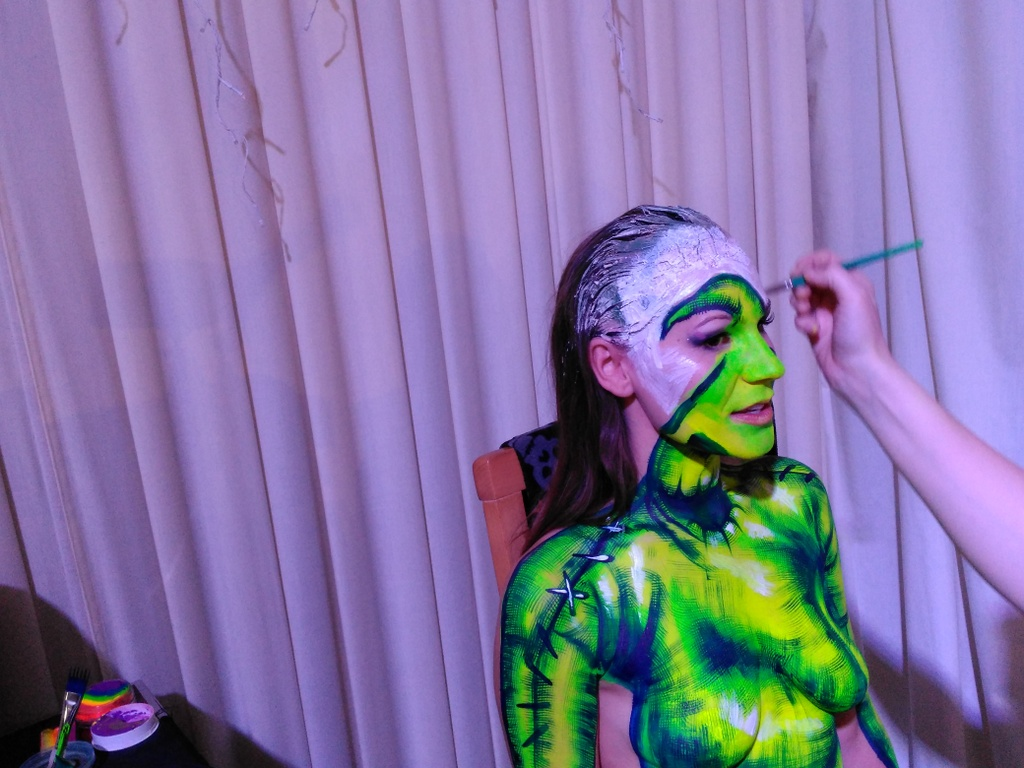 sci fi channel body paint