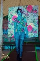 Penny flowery camo wall paper paint trompe catwalk