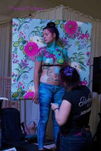 Penny flowery camo wall paper paint trompe in prog