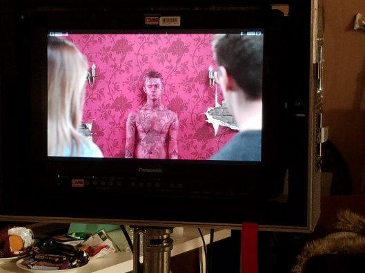 Screen wall camo bodypaint on ed.05