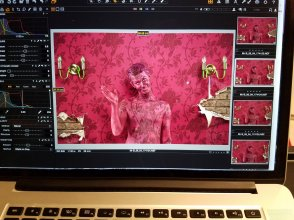 Shot screen wall camo bodypaint on ed.33