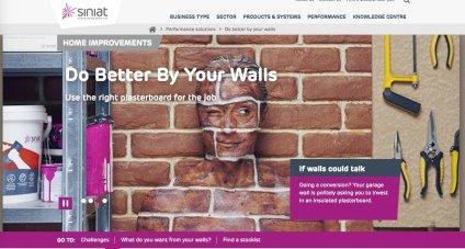 Siniat brick wall camo paint ad