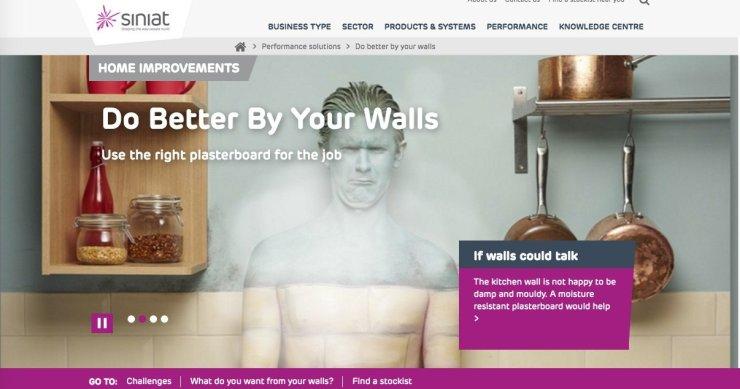 Siniat kitchen wall camo paint ad