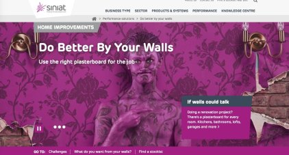 Siniat pink wall camo paint ad