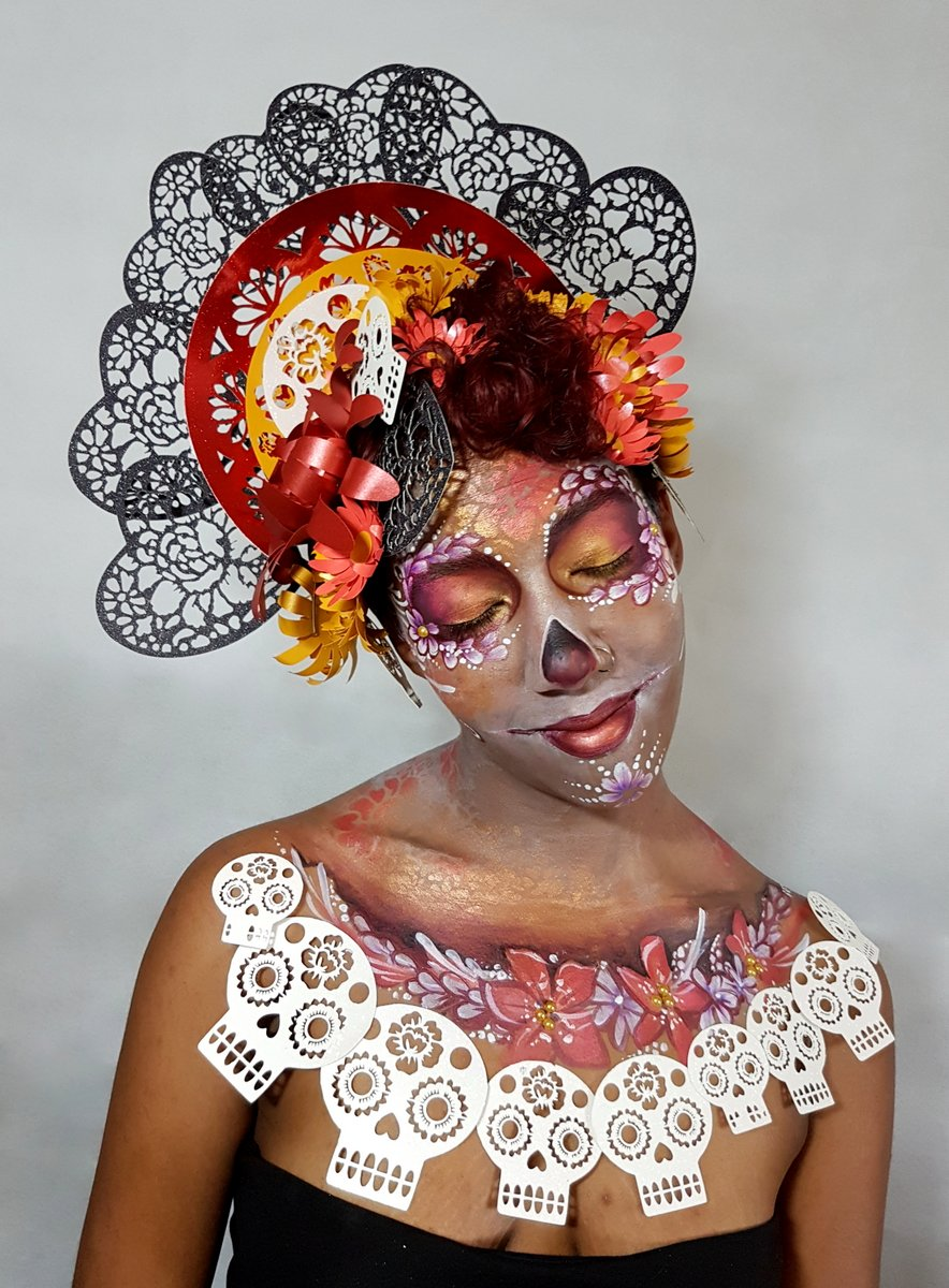 Cricut Crafter Sugar Skull Body Painting By Cat