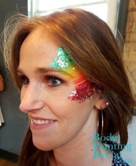 PRIDE London rainbow stripe n glitter bpc