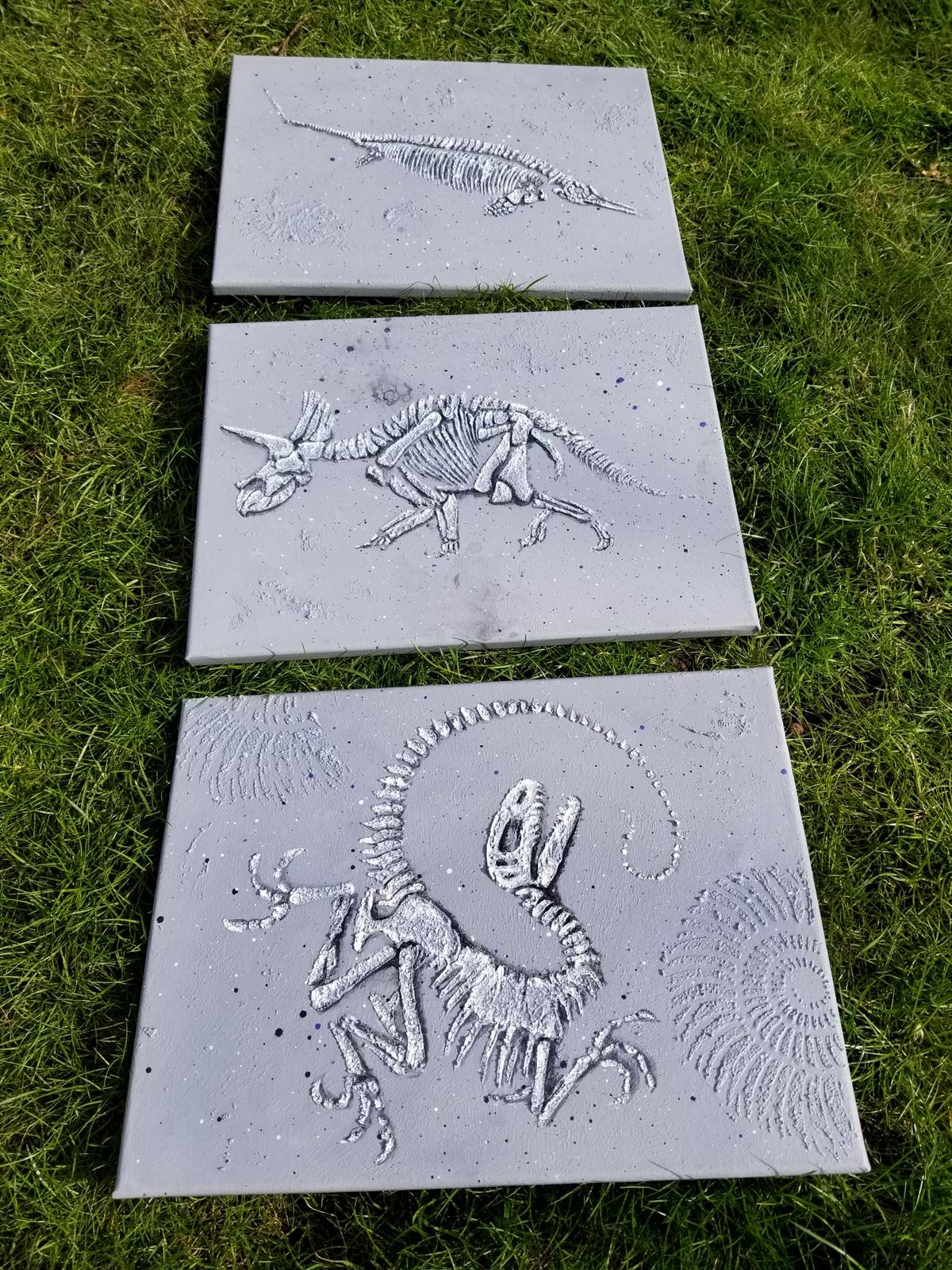 All 3 tilt dino paste fossil stencil.38
